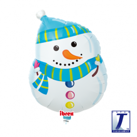 "14"" SHAPE WINTER SNOWMAN FOIL"