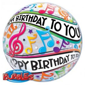 """22"""" HAPPY BDAY TO YOU MUSIC NOTE (PK)"""