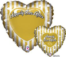 "21"" PHOTO BLN HAPPILY EVER AFTER (PK)"