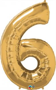 "42"" NUMBER 6(SIX) METALLIC GOLD (PK)"