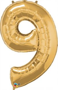 "42"" NUMBER 9(NINE) METALLIC GOLD (PK)"