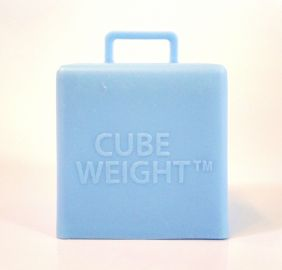 65GM CUBE WEIGHT BABY BLUE 10CT