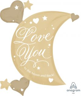 """27""""X32"""" LOVE YOU TO THE MOON AND BACK PK"""