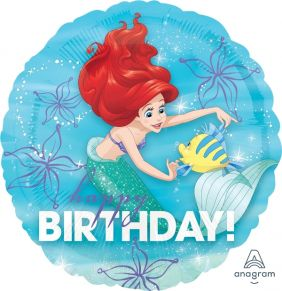 "18"" RND ARIEL DREAM BIG HAPPY BDAY (PK)"