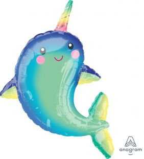 """29""""X39"""" HAPPY NARWHAL (PK)"""