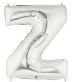 """40"""" LETTER Z SILVER POLYBAGGED 1CT/PK"""