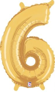 "14"" NUMBER 6 GOLD FOIL~DISC"