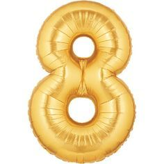 "14"" NUMBER 8 GOLD FOIL~DISC"