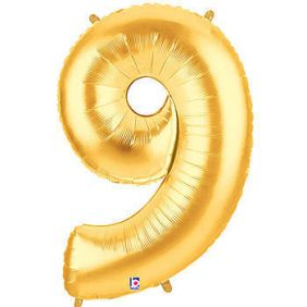 "14"" NUMBER 9 GOLD FOIL~DISC"