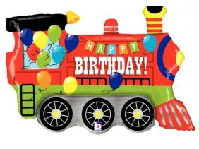 "28"" SHAPE BDAY PARTY TRAIN PK"