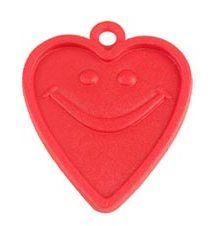 8GM HEART WEIGHT RED 100CT