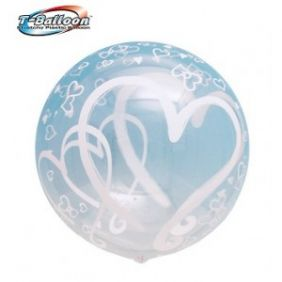 "22"" RND TBLN PAIR HEART(490MM)"