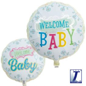 """14"""" RND WELCOME BABY FOIL"""