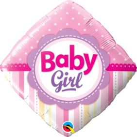 "18"" DMD BABY GIRL DOTS&STRIPES (PK)"