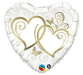 """18"""" HRT ENTWINED HEARTS GOLD (PK)"""