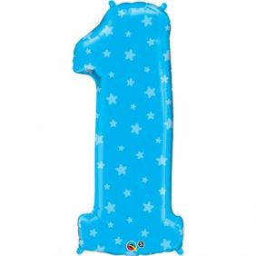 "38"" NUMBER 1(ONE) BLUE STARS(PK)"