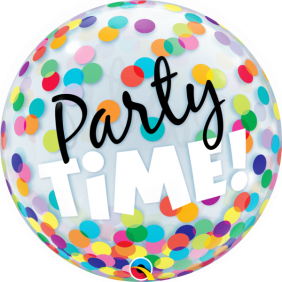 """22"""" PARTY TIME!COLORFUL DOTS (PK)"""