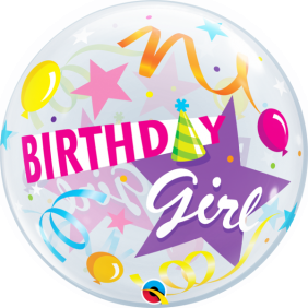 """22"""" BDAY GIRL PARTY HAT (PK)"""