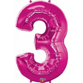 "44"" NUMBER 3(THREE) MAGENTA (PK)"
