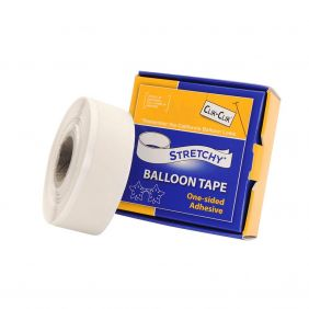 """STRETCHY BALLOON TAPE ONE SIDED ADHESIVE 0.75"""" X 25FT (19MM x 7.6M)"""
