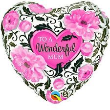 "18"" HRT WONDERFUL MOM FLORAL DAMASK FOIL"