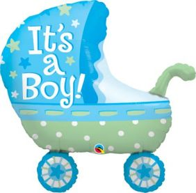 "35"" SHAPE IT'S A BOY BABY STROLLER (PK)"