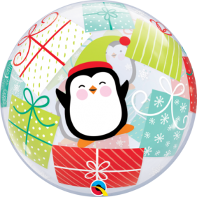 "22"" PENGUIN&PRESENTS (PK) SINGLE BUBBLE"