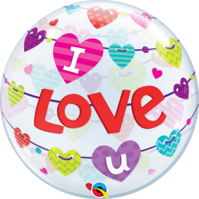 "22"" I LOVE YOU BANNER HEARTS(PK)S.BUBBLE"