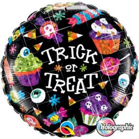 "18"" RND HG TRICK OR TREAT SWEETS"