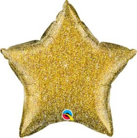 "20"" STAR GLITTERGRAPHIC GOLD FOIL"