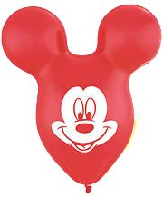 """15"""" TMH MICKEY EARS RED 25CT"""