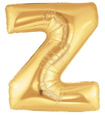 """40"""" LETTER Z GOLD POLYBAGGED 1CT/PK"""