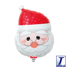 "14"" SHAPE SANTA CLAUS FACE FOIL"
