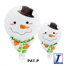 "05"" UPRIGHT SHY SNOWMAN FOIL"