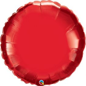 "36"" RND RUBY RED PLAIN FOIL"