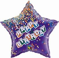 "36"" STAR BDAY STAR PURPLE FOIL"