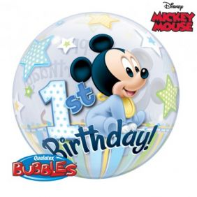 "22"" MICKEY MOUSE 1ST BDAY (PK)"