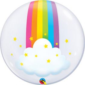 "24"" DECO BUBBLE RAINBOW CLOUDS (PK)"