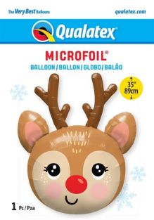 "35"" SHAPE RED-NOSED REINDEER HEAD (PK)"