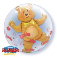 "24"" LOVE HEARTS & BEAR (PK)"