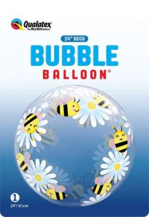 "24"" DECO BUBBLE SWEET BEES & DAISIES (PK)"