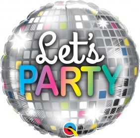 "18"" RND LET'S PARTY DISCO BALL (PK)"