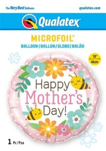 """18"""" RND MOTHER'S DAY BEE&FLOWERS (PK)"""