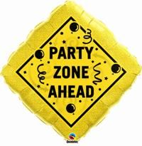 "34"" DIAMOND PARTY ZONE AHEAD (PK)"
