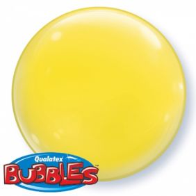 """15"""" SOLID-COLOR BUBBLE YELLOW (4PC/PK)"""