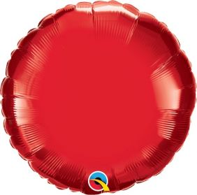 "18"" RND RUBY RED PLAIN FOIL"