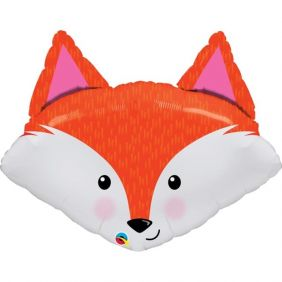 "33"" SHAPE FABULOUS FOX FLAT FOIL"