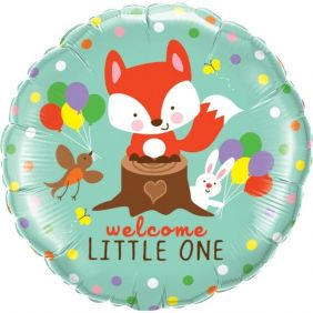"18"" RND WELCOME LITTLE FOX&FRIENDS PK"
