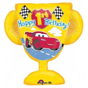 "26""x27"" CARS 1ST BDAY TROPHY (PK)"