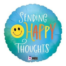 """18"""" RND HAPPY THOUGHTS SMILEY (PK)"""